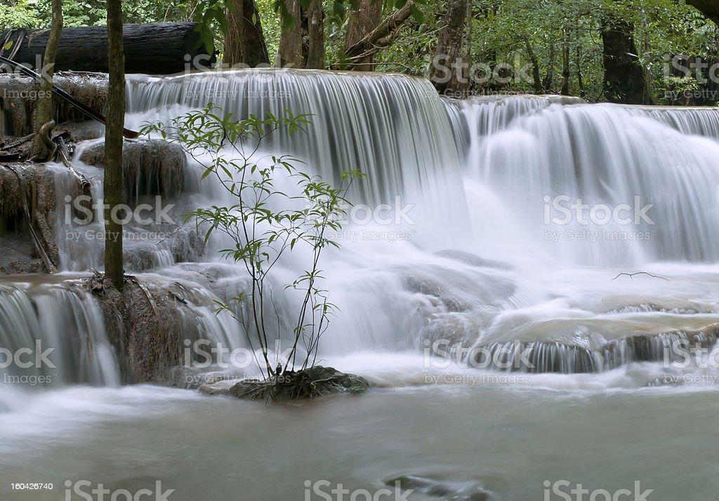 beautiful cascading waterfall royalty-free stock photo