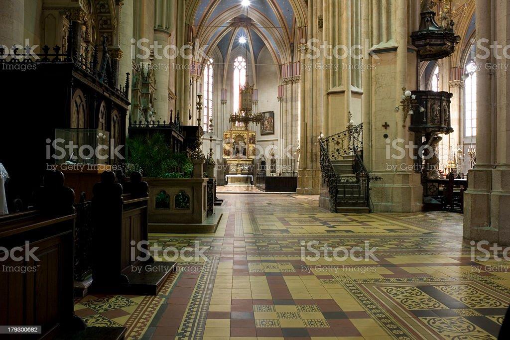 Beautiful Cathedreal i Zagreb royalty-free stock photo