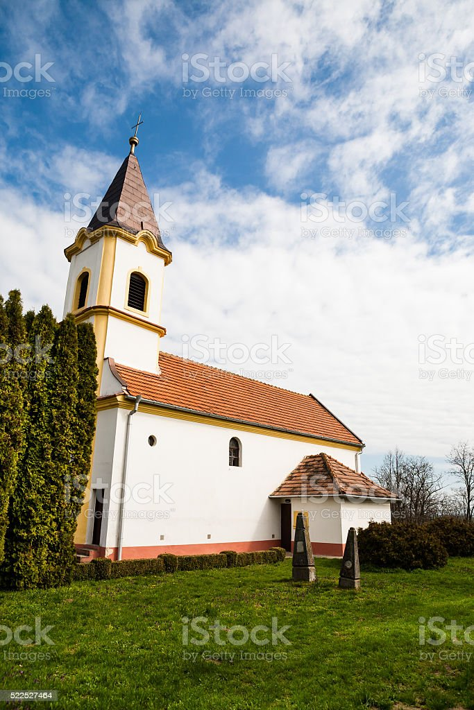 Beautiful catholic church stock photo