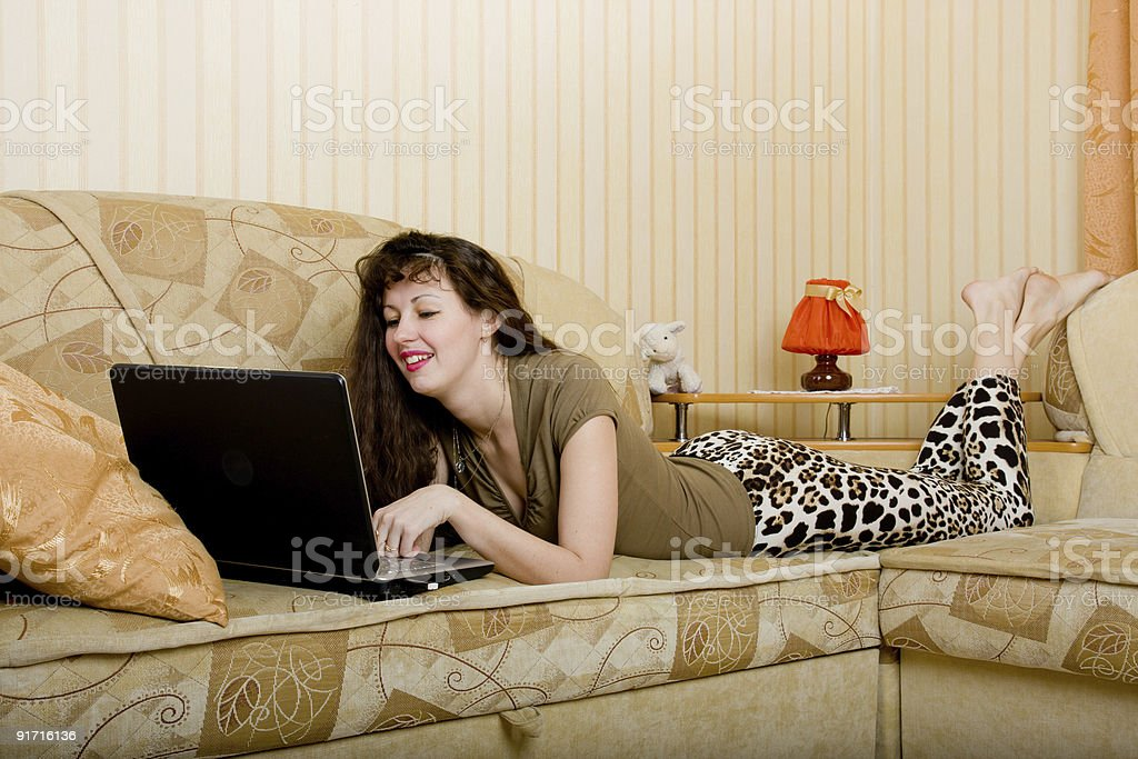 Beautiful caucasian woman with a black notebook royalty-free stock photo