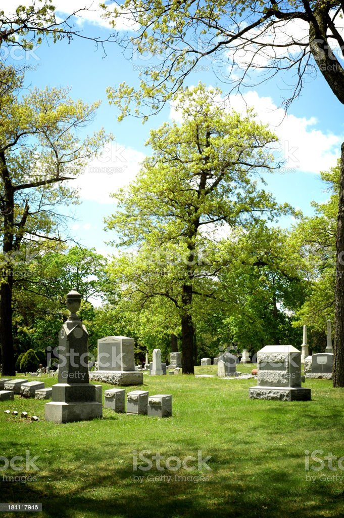 Beautiful Cemetery royalty-free stock photo