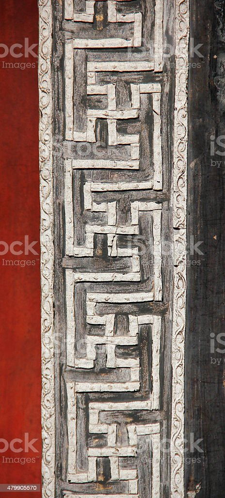 Beautiful Chainese architecture stock photo