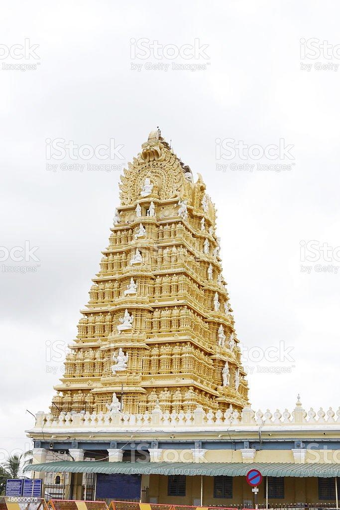 Beautiful Chamundeshwari temple at Mysore stock photo