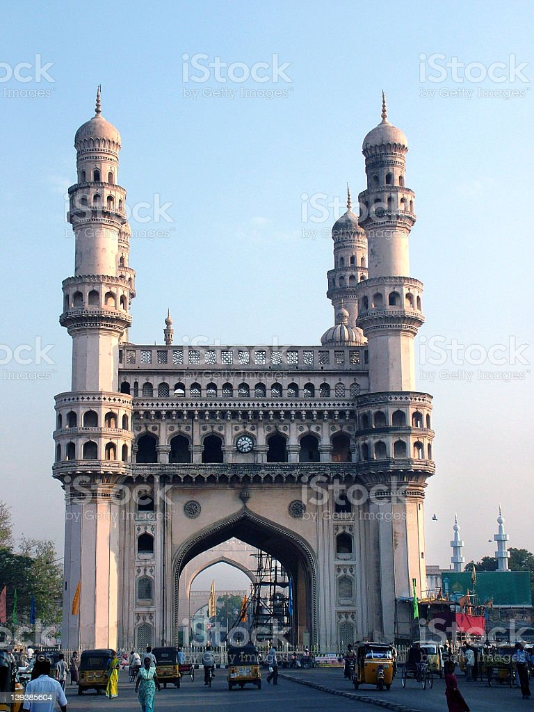 Beautiful Charminar monument in Hyderabad, India stock photo
