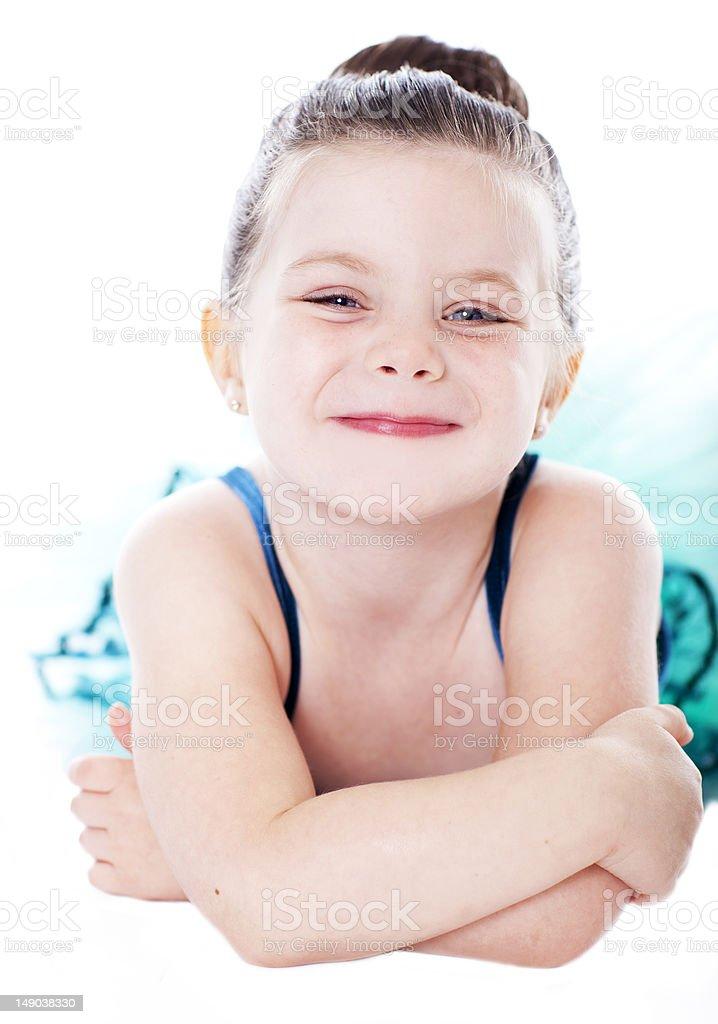 Beautiful child dancer studio portrait royalty-free stock photo