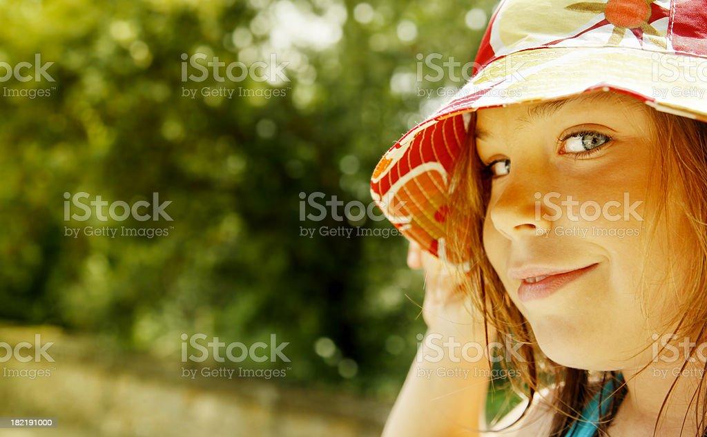 Beautiful child outdoors, close-up royalty-free stock photo
