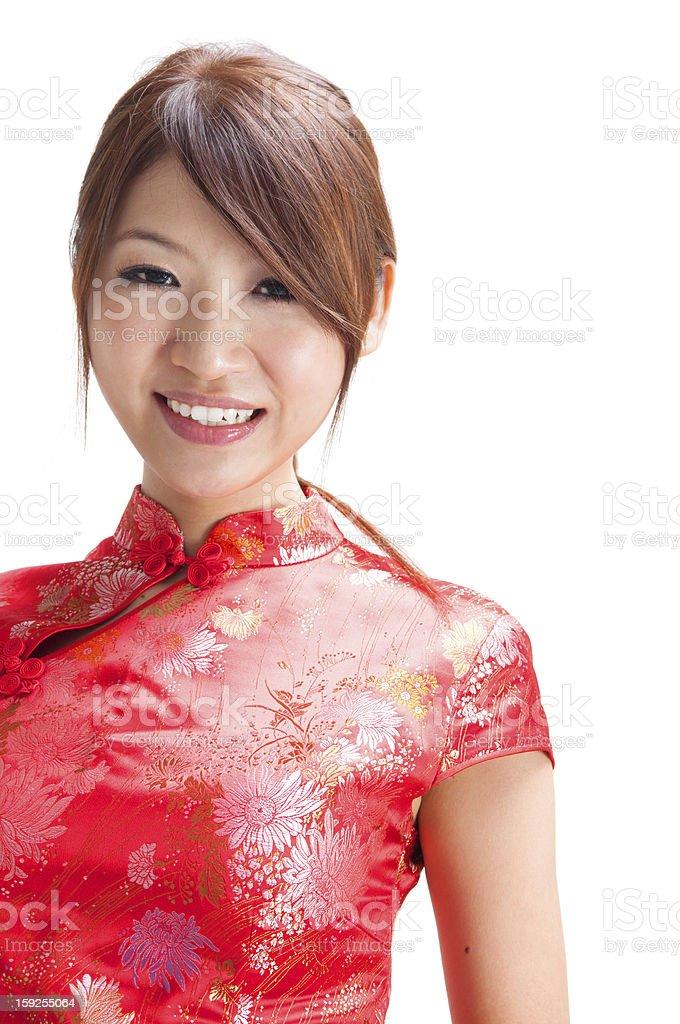 Beautiful Chinese girl royalty-free stock photo