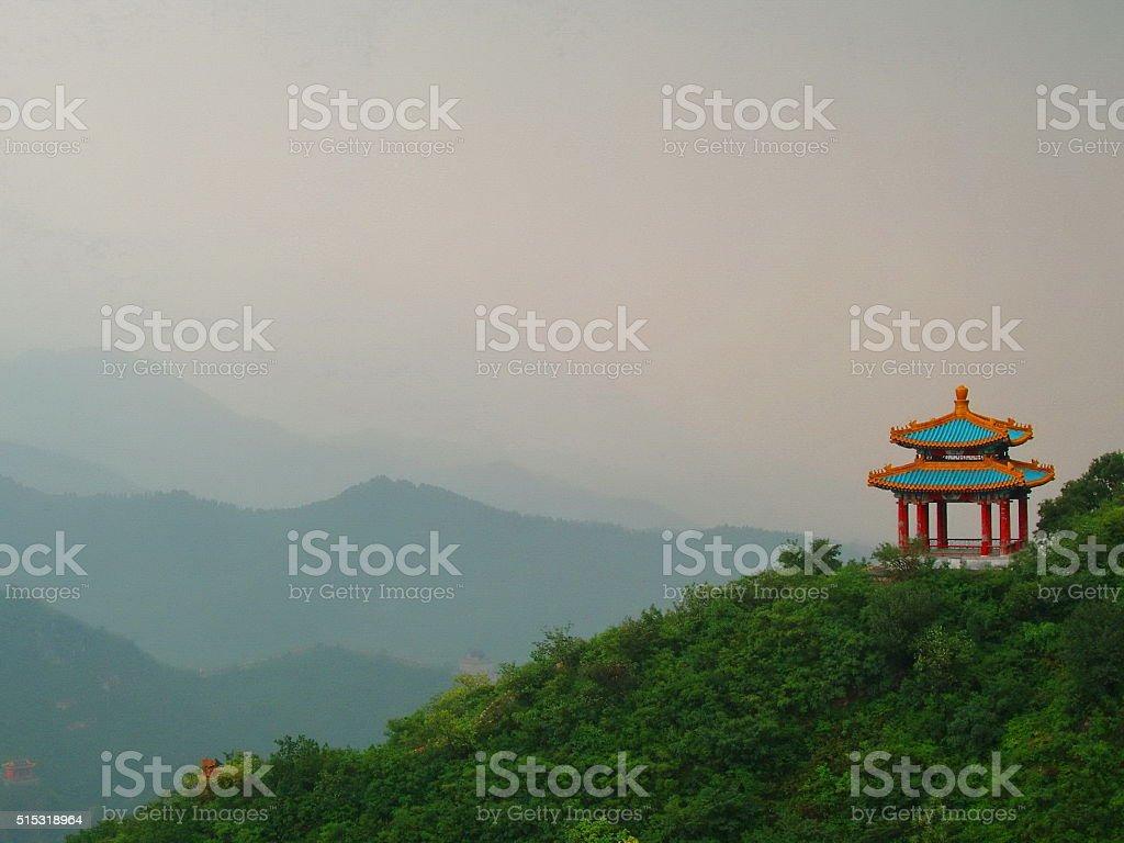 Beautiful Chinese pagoda stock photo