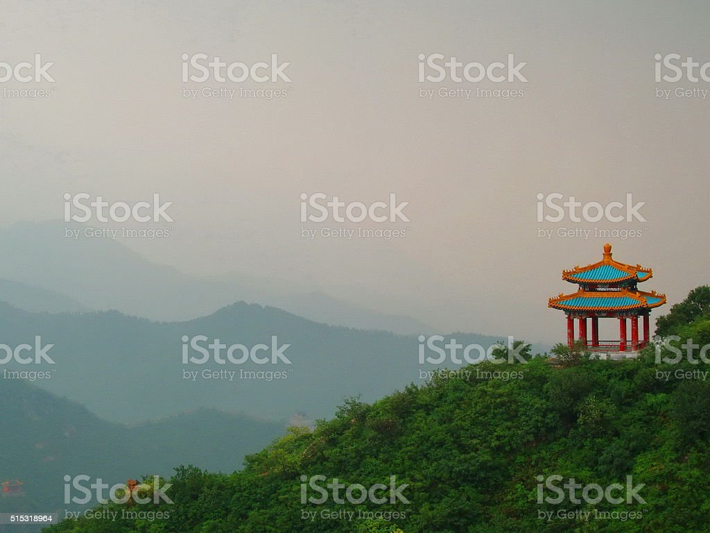 Beautiful Chinese pagoda stock photo
