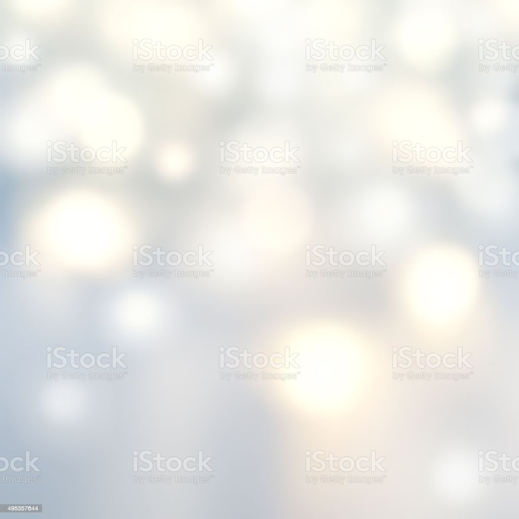Beautiful Christmas background with silver lights and stars. stock photo