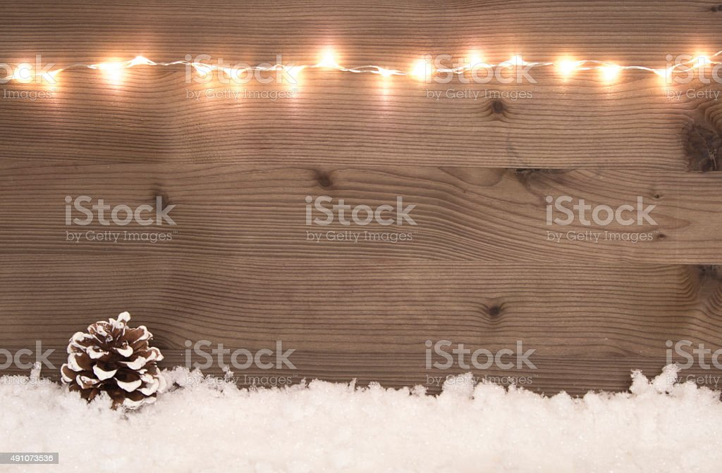 beautiful christmas background with snow and copy-space stock photo