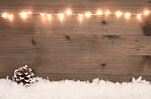 beautiful christmas background with snow and copy-space