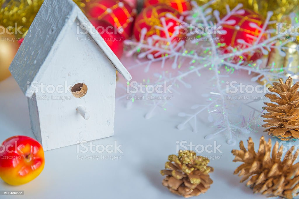 Beautiful christmas composition stock photo