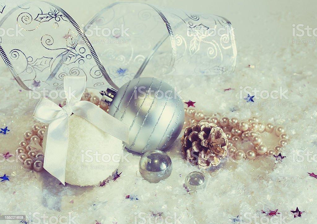 Beautiful Christmas decorations royalty-free stock photo