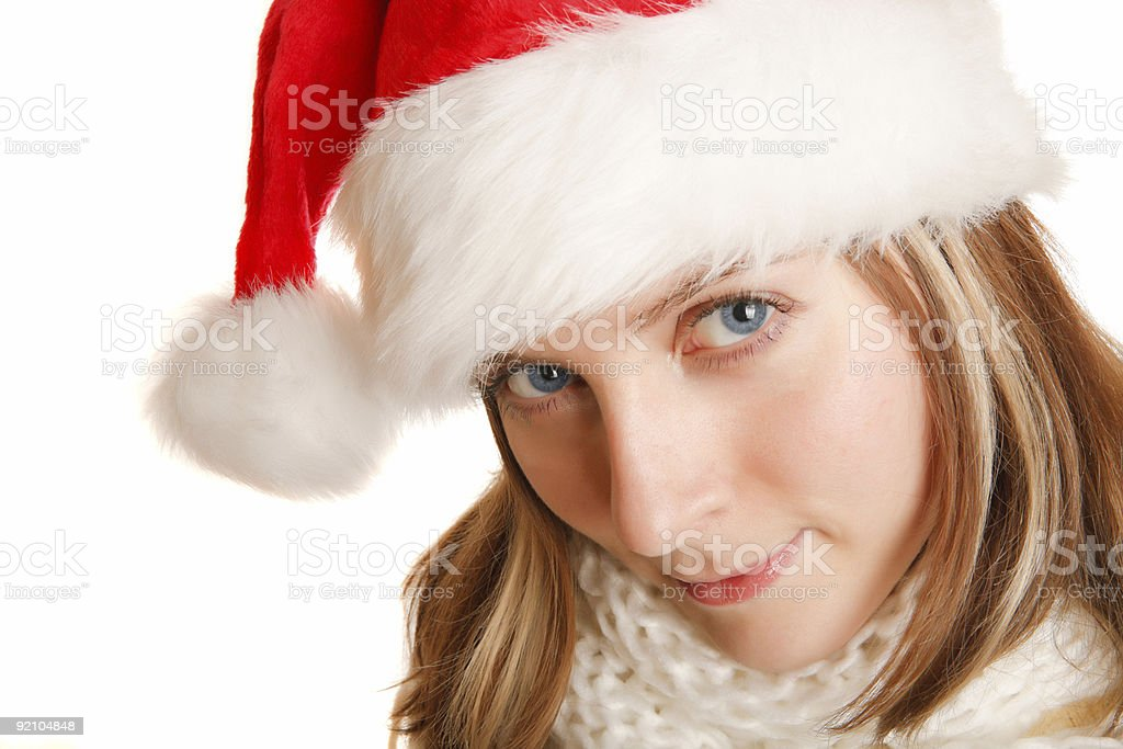 beautiful christmas girl royalty-free stock photo