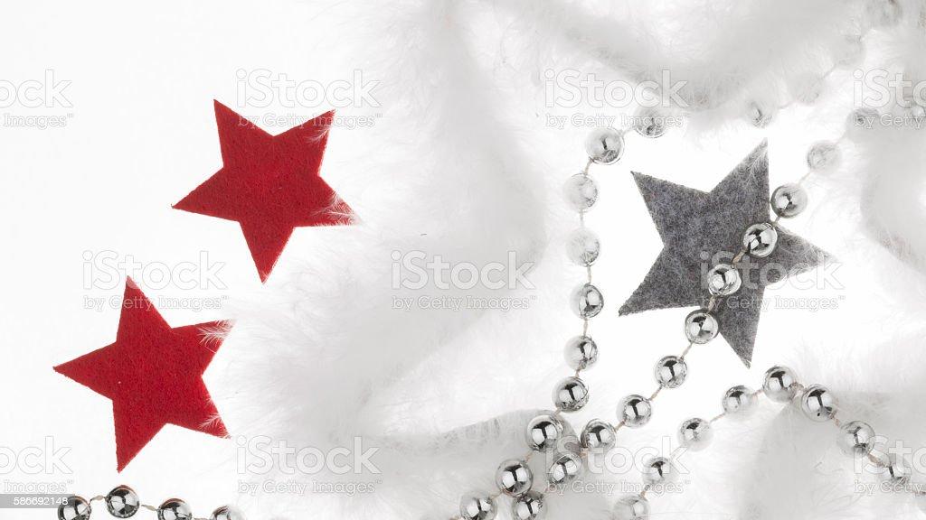 Beautiful Christmas holiday decorations stock photo