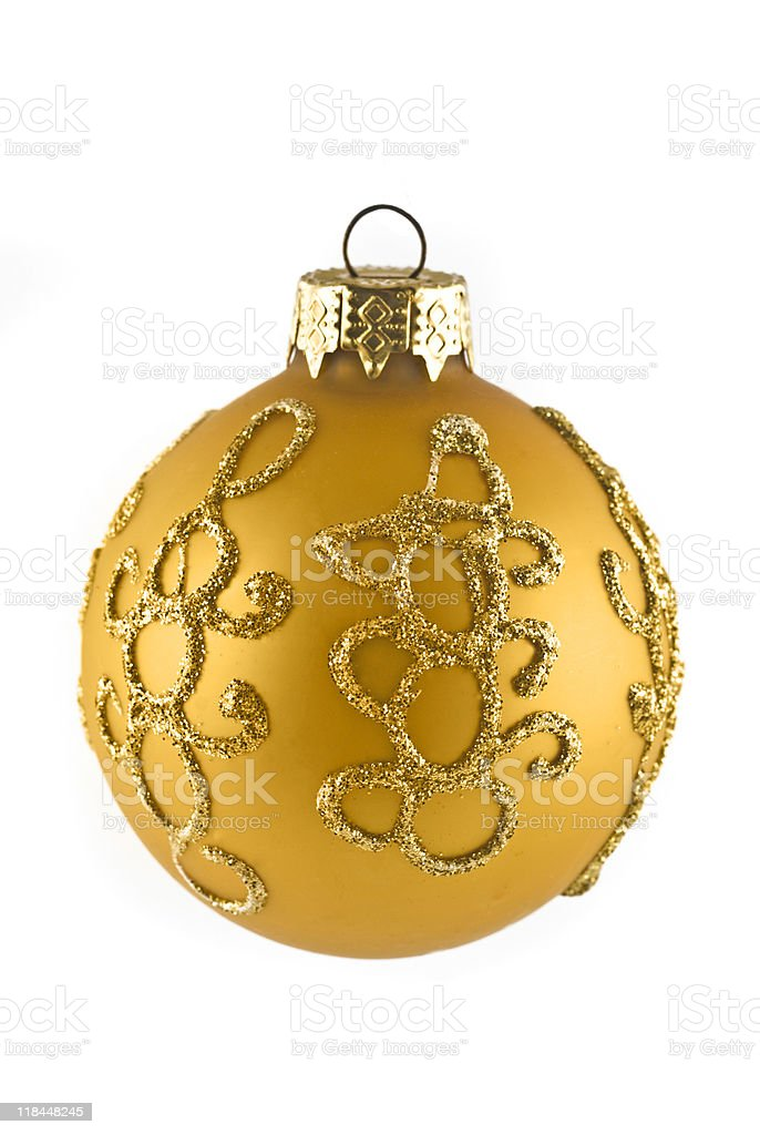 Beautiful Christmas or New Year ball royalty-free stock photo