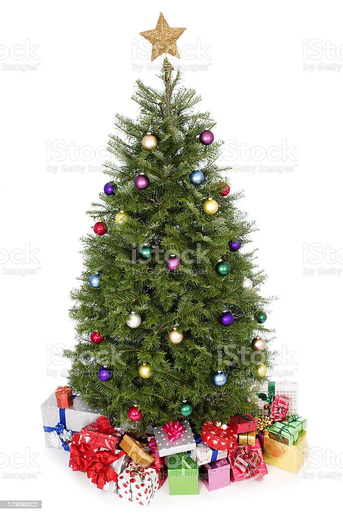 beautiful christmas tree royalty-free stock photo