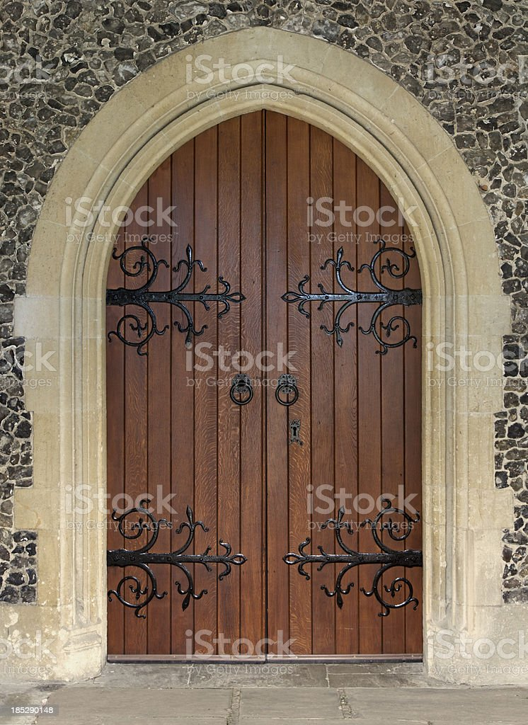 beautiful church door stock photo