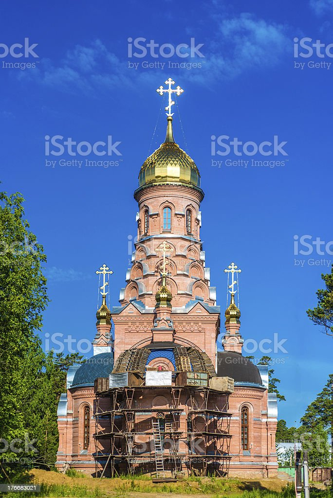 Beautiful church in Russia royalty-free stock photo