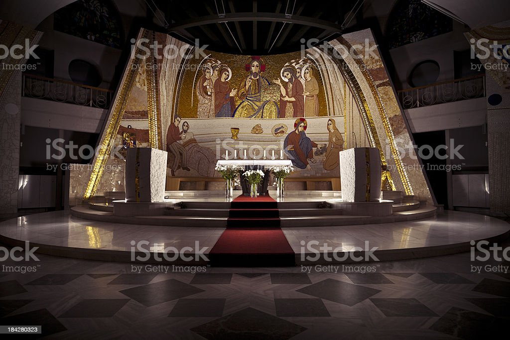 Beautiful church interior royalty-free stock photo