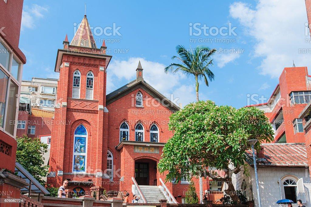beautiful church stock photo