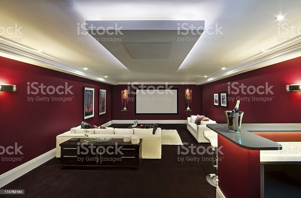 beautiful cinema room royalty-free stock photo