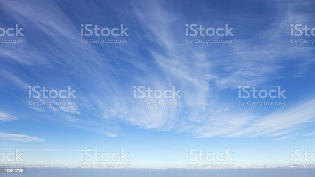 Beautiful cirrus clouds royalty-free stock photo