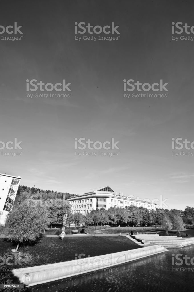 A Beautiful City Centre on a Sunny Summer Day stock photo