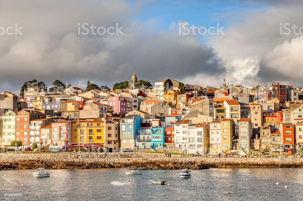 Beautiful city of A Guarda stock photo