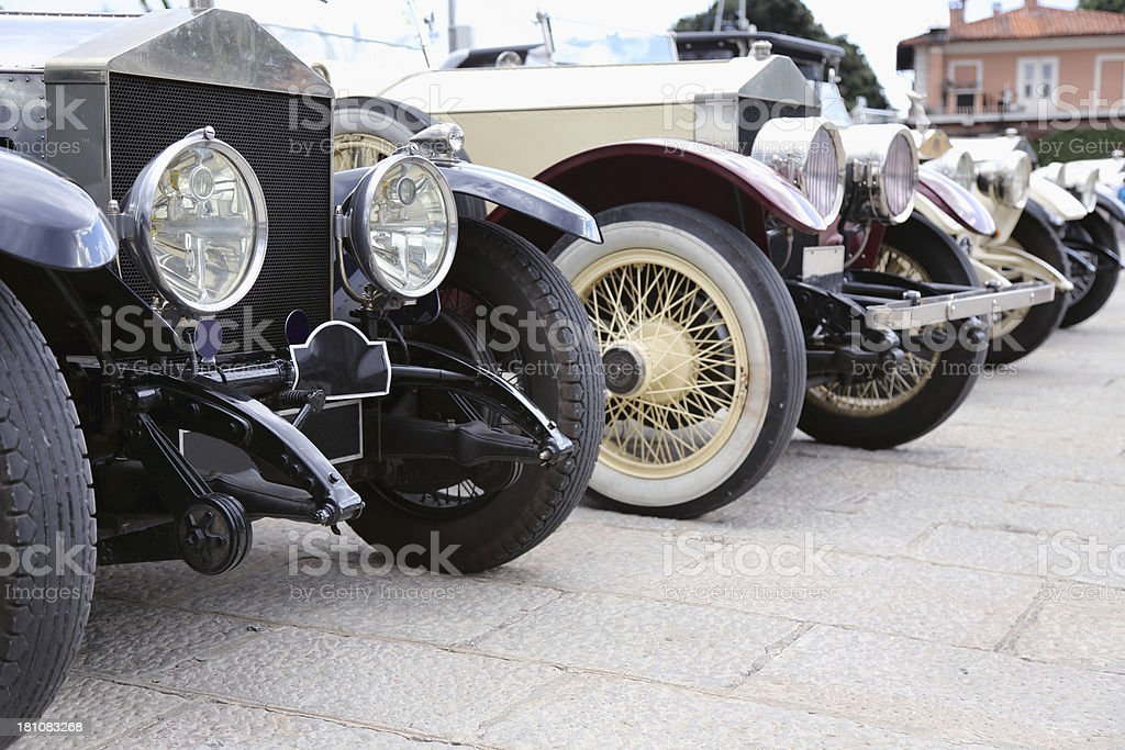 Beautiful classic cars stock photo