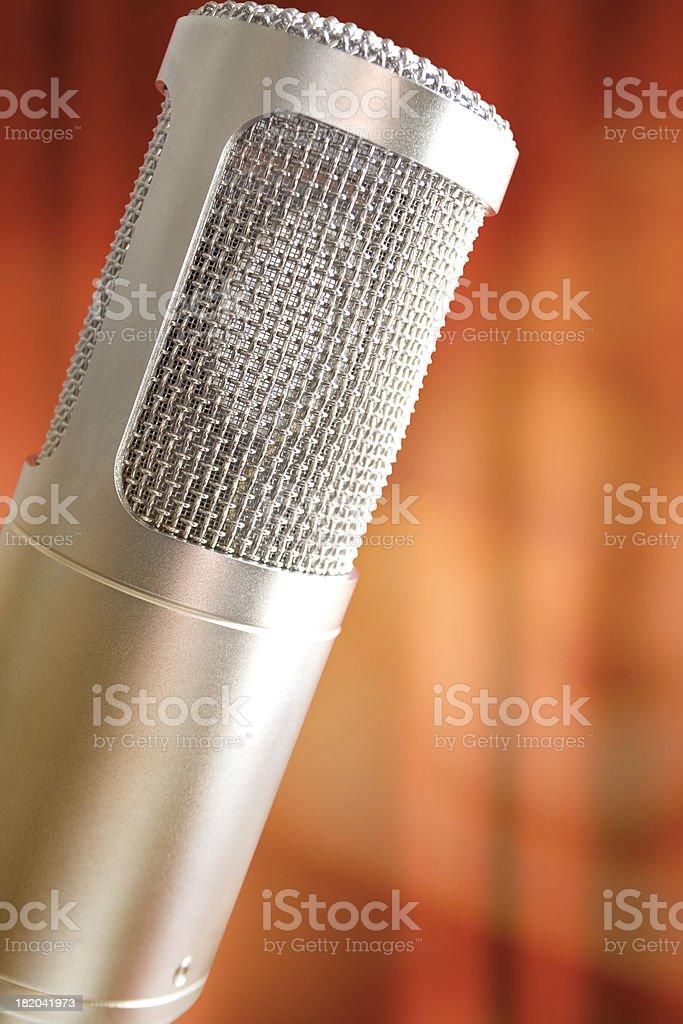 Beautiful classic Microphone royalty-free stock photo