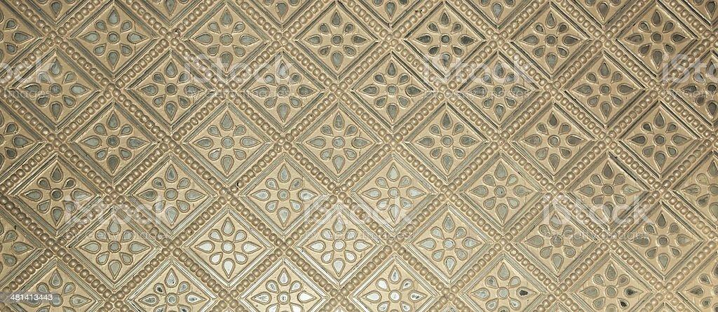 Beautiful classic silver wall pattern stock photo