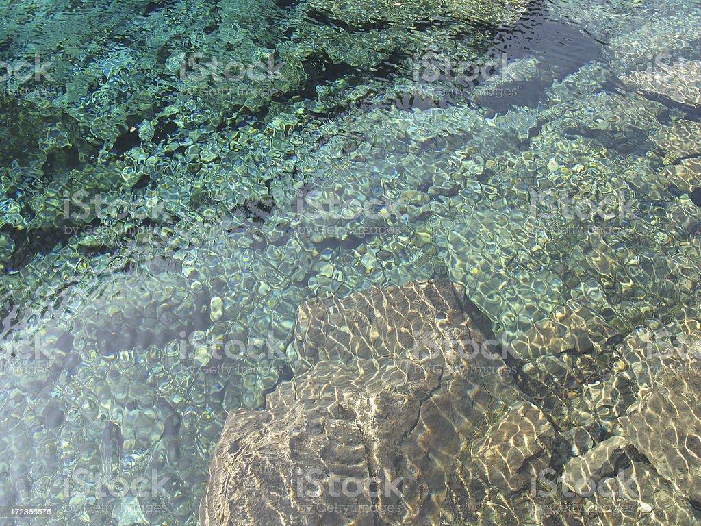 Beautiful Clean Clear Lake Water stock photo