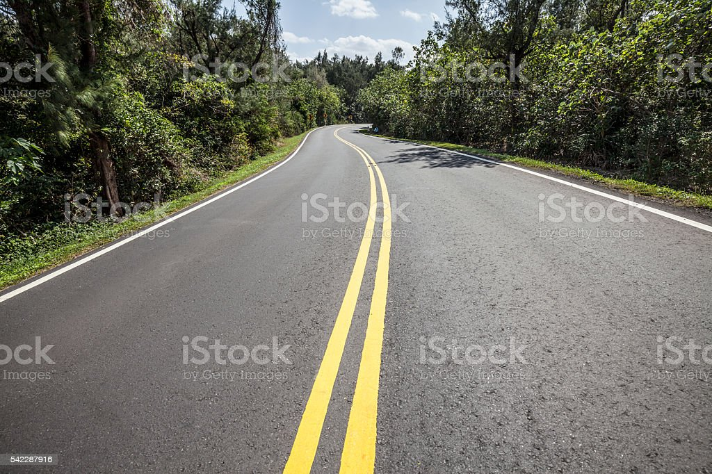 Beautiful clean country road stock photo