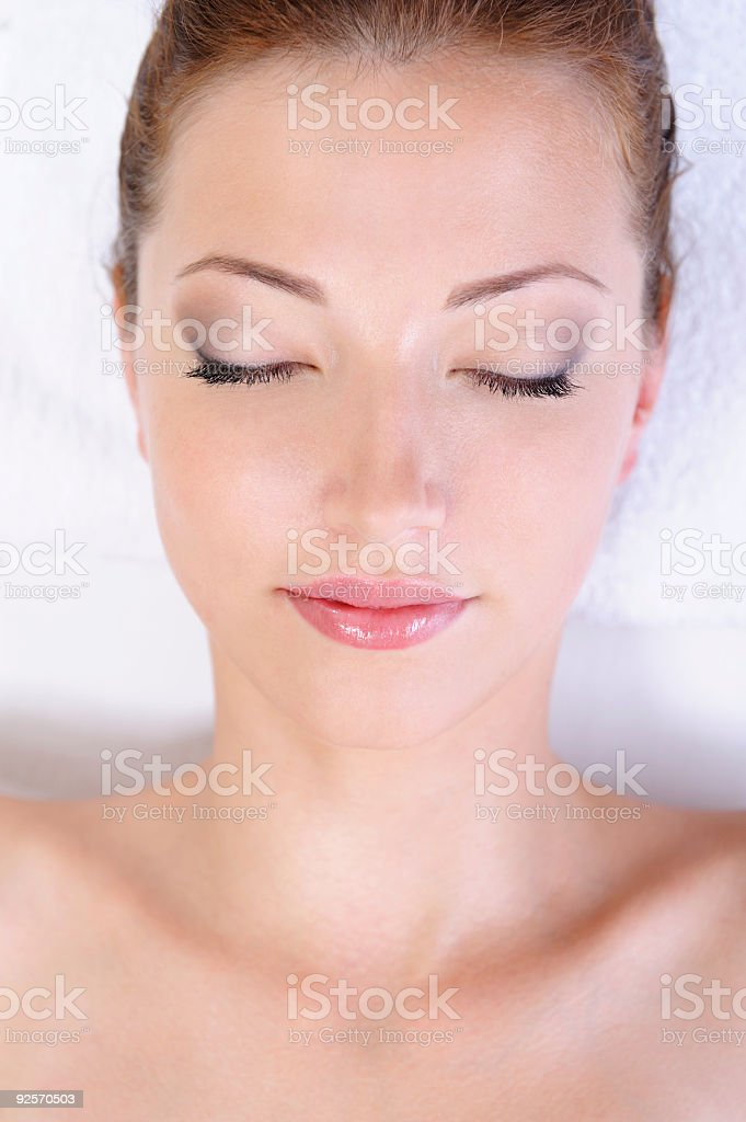 Beautiful clean female face royalty-free stock photo
