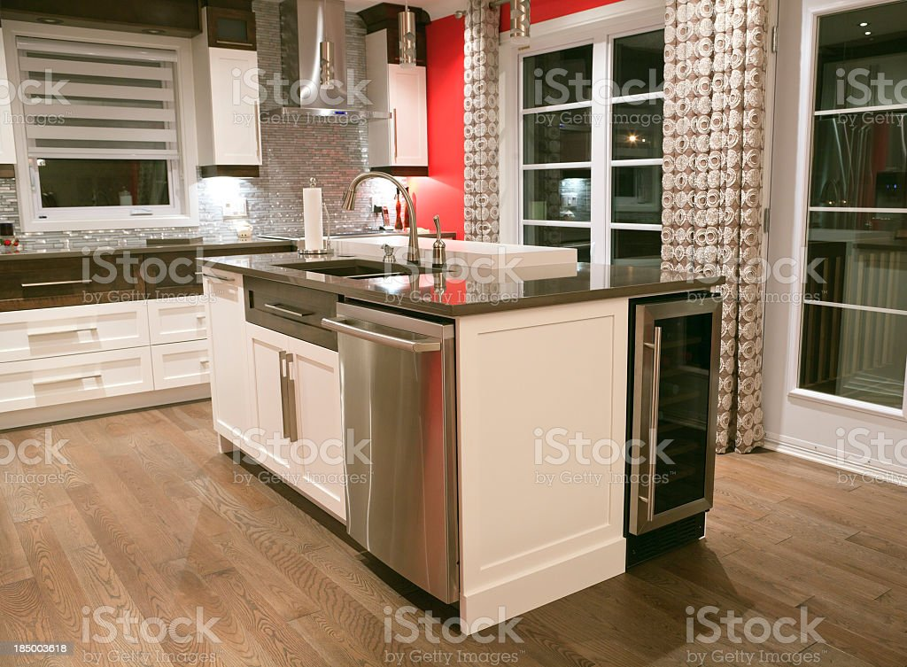 Beautiful Clean Kitchen royalty-free stock photo