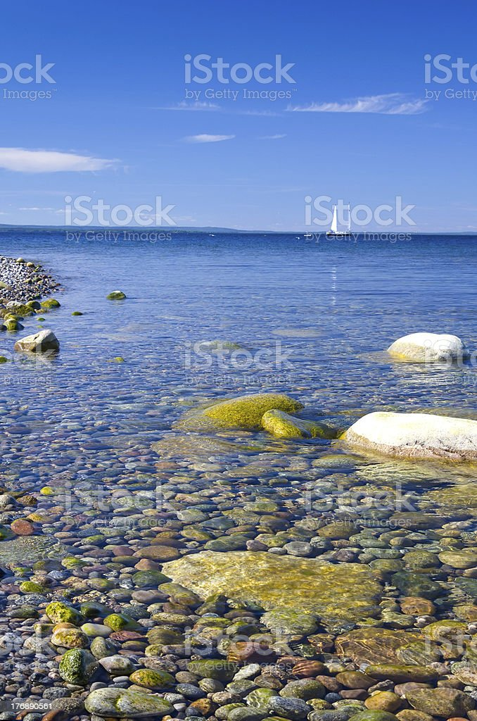 Beautiful clear calm sea royalty-free stock photo
