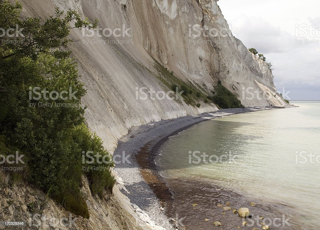 Beautiful cliff in Denmark stock photo