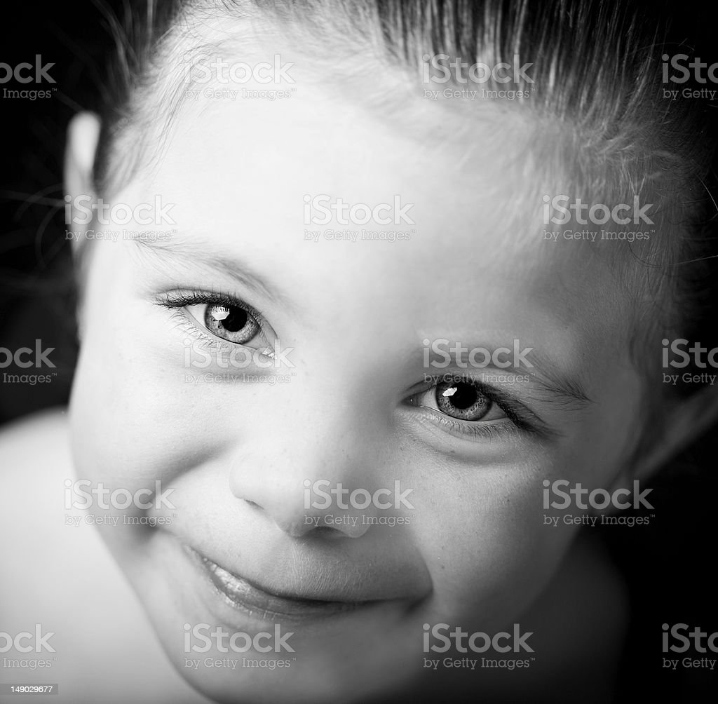 Beautiful close up portrait of little girl royalty-free stock photo