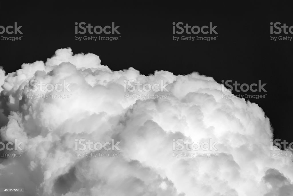 Beautiful cloud on blue background stock photo