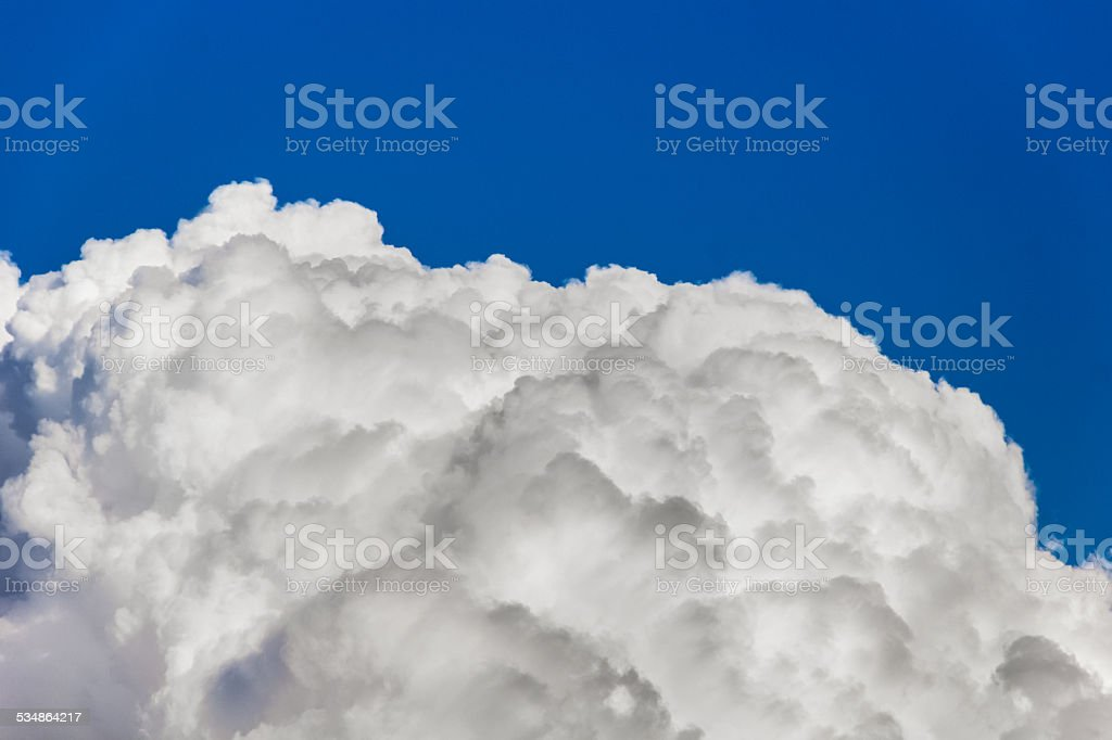 Beautiful cloud on blue background stock photo