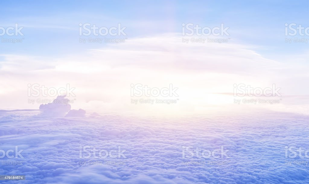 Beautiful clouds in the morning stock photo