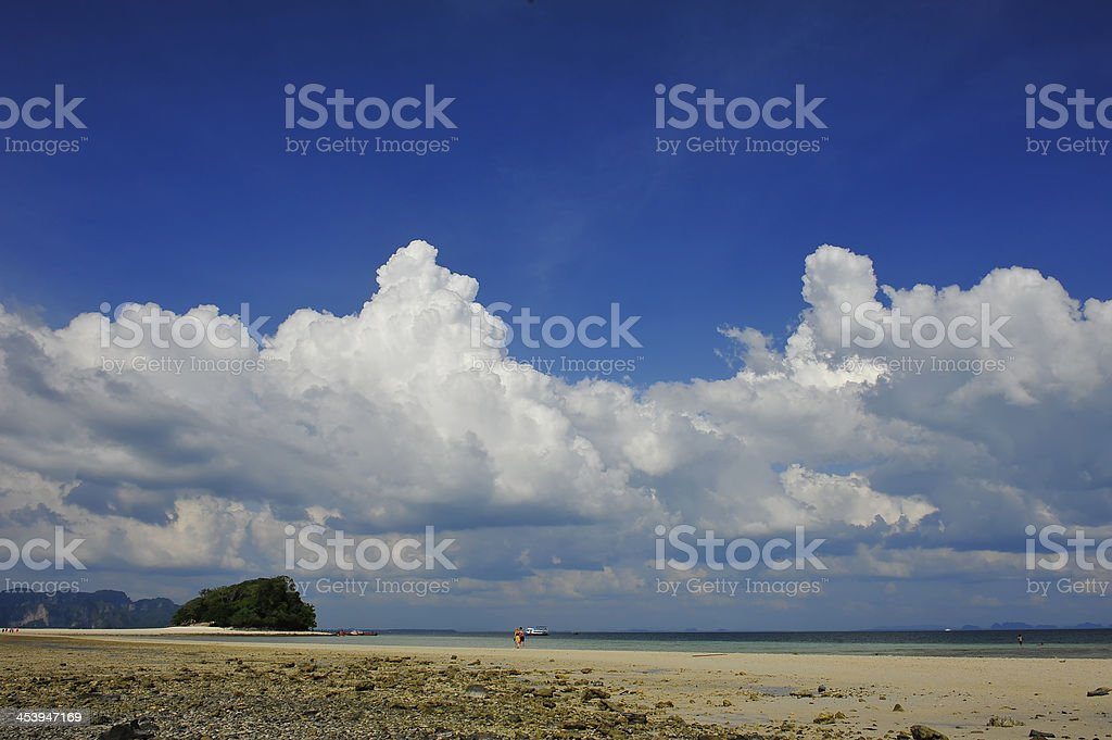 Beautiful clouds on shore royalty-free stock photo