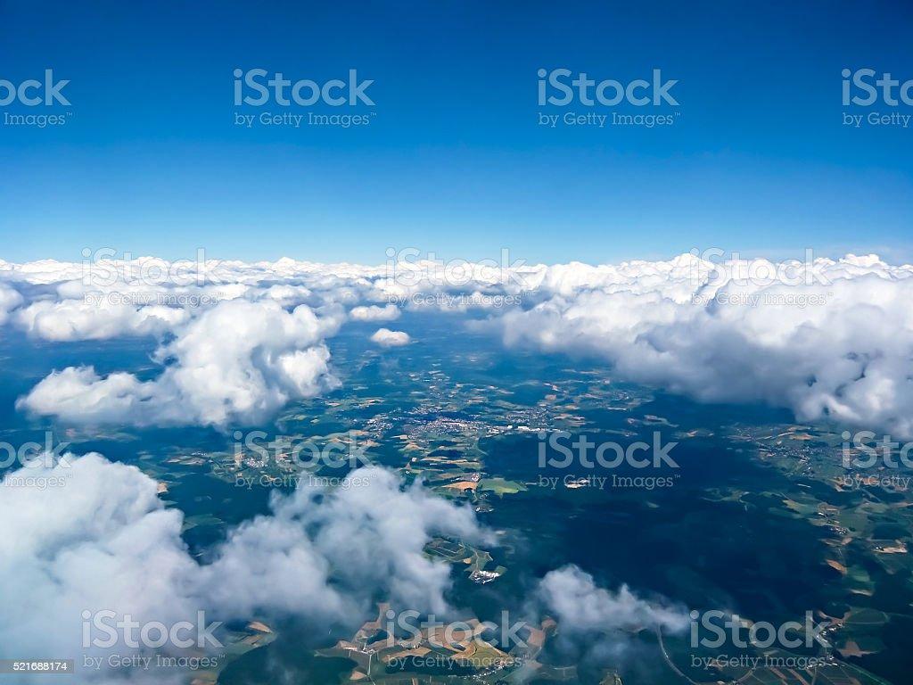 Beautiful cloudscape in the sky stock photo