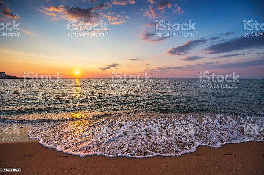 Beautiful cloudscape over the sea stock photo