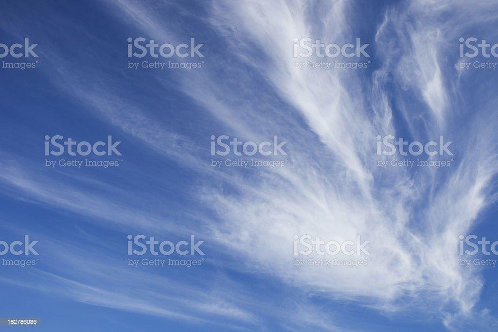 Beautiful Cloudy Blue Sky royalty-free stock photo