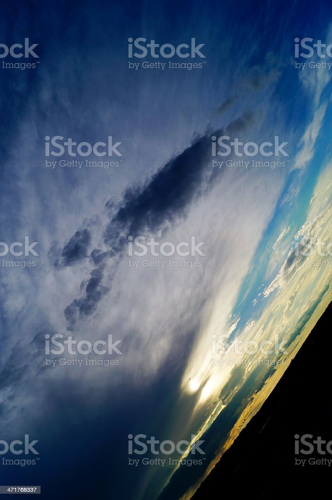 Beautiful cloudy landscape royalty-free stock photo
