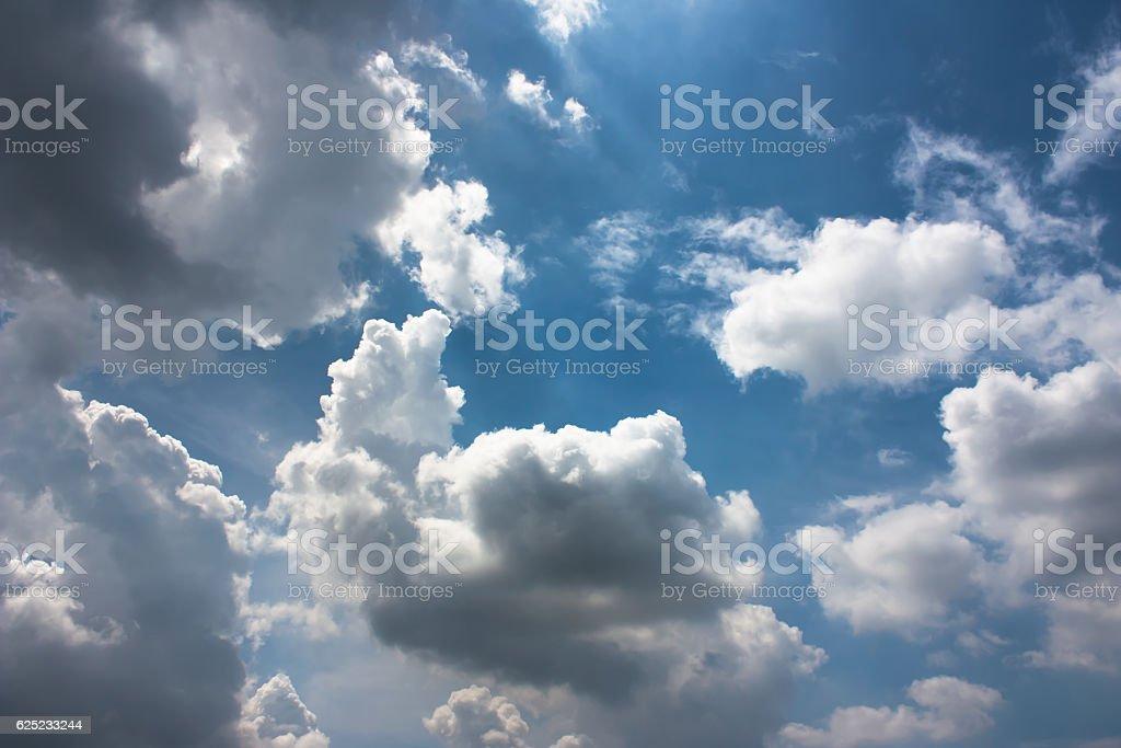 Beautiful Cloudy sky background. stock photo