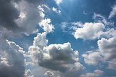 Beautiful Cloudy sky background.
